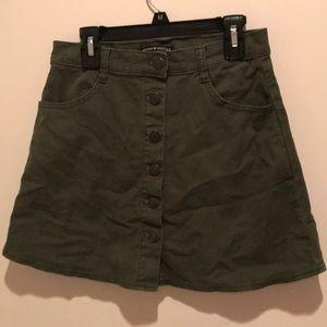 Brandy Melville Green Skirt